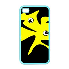 Yellow Amoeba Apple Iphone 4 Case (color) by Valentinaart