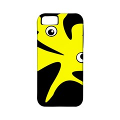 Yellow Amoeba Apple Iphone 5 Classic Hardshell Case (pc+silicone) by Valentinaart