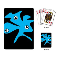 Blue Amoeba Playing Card by Valentinaart