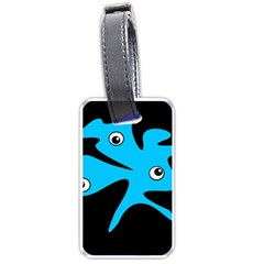 Blue Amoeba Luggage Tags (one Side)  by Valentinaart