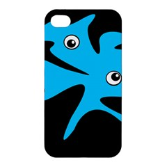Blue Amoeba Apple Iphone 4/4s Hardshell Case by Valentinaart