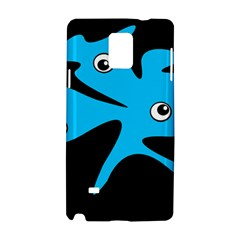Blue Amoeba Samsung Galaxy Note 4 Hardshell Case by Valentinaart
