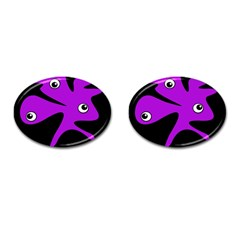Purple Amoeba Cufflinks (oval) by Valentinaart