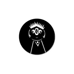 Black And White Voodoo Man Golf Ball Marker by Valentinaart