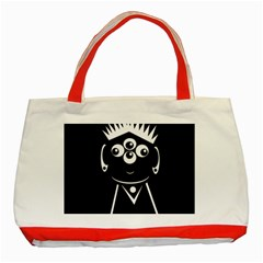 Black And White Voodoo Man Classic Tote Bag (red)