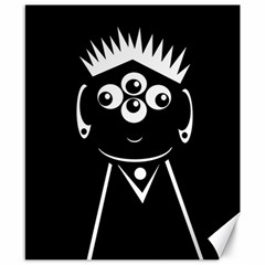 Black And White Voodoo Man Canvas 8  X 10  by Valentinaart