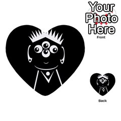 Black And White Voodoo Man Multi Purpose Cards (heart)  by Valentinaart