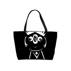 Black And White Voodoo Man Shoulder Handbags by Valentinaart
