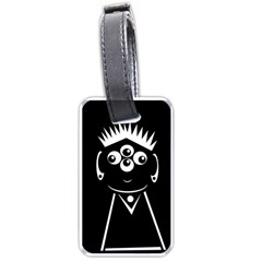 Black And White Voodoo Man Luggage Tags (two Sides) by Valentinaart