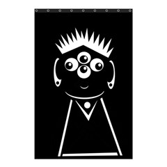 Black And White Voodoo Man Shower Curtain 48  X 72  (small)  by Valentinaart
