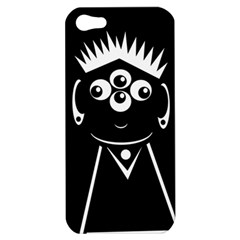 Black And White Voodoo Man Apple Iphone 5 Hardshell Case by Valentinaart