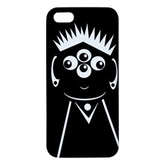 Black And White Voodoo Man Apple Iphone 5 Premium Hardshell Case by Valentinaart