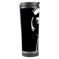 Black And White Voodoo Man Travel Tumbler by Valentinaart