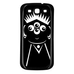 Black And White Voodoo Man Samsung Galaxy S3 Back Case (black) by Valentinaart