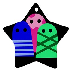 Three Monsters Ornament (star)  by Valentinaart