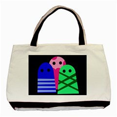 Three Monsters Basic Tote Bag (two Sides) by Valentinaart