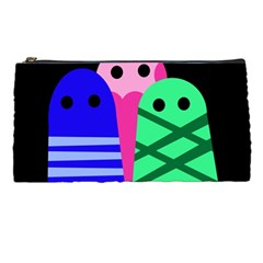 Three Monsters Pencil Cases by Valentinaart