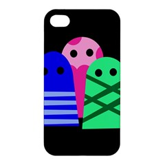 Three Monsters Apple Iphone 4/4s Hardshell Case