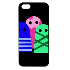 Three Monsters Apple Iphone 5 Seamless Case (black) by Valentinaart