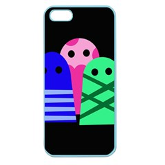 Three Monsters Apple Seamless Iphone 5 Case (color) by Valentinaart