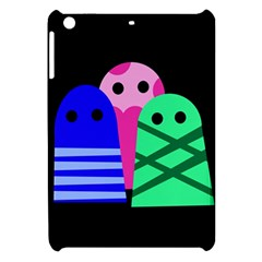 Three Monsters Apple Ipad Mini Hardshell Case by Valentinaart
