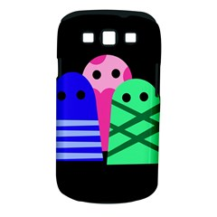 Three Monsters Samsung Galaxy S Iii Classic Hardshell Case (pc+silicone) by Valentinaart