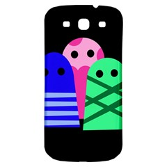 Three Monsters Samsung Galaxy S3 S Iii Classic Hardshell Back Case by Valentinaart