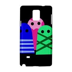 Three Monsters Samsung Galaxy Note 4 Hardshell Case by Valentinaart