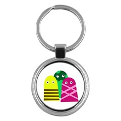 Three Mosters Key Chains (round)  by Valentinaart