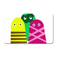 Three Mosters Magnet (rectangular) by Valentinaart