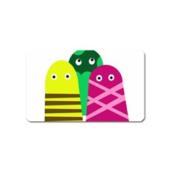 Three Mosters Magnet (name Card) by Valentinaart