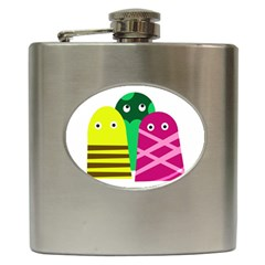 Three Mosters Hip Flask (6 Oz) by Valentinaart