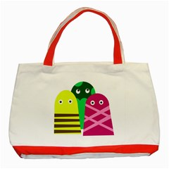 Three Mosters Classic Tote Bag (red) by Valentinaart