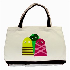 Three Mosters Basic Tote Bag (two Sides) by Valentinaart