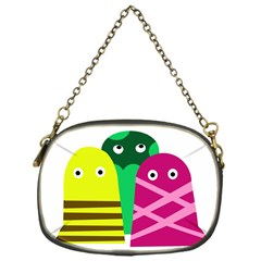 Three Mosters Chain Purses (one Side)  by Valentinaart