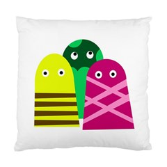 Three Mosters Standard Cushion Case (one Side) by Valentinaart