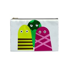 Three Mosters Cosmetic Bag (medium)  by Valentinaart