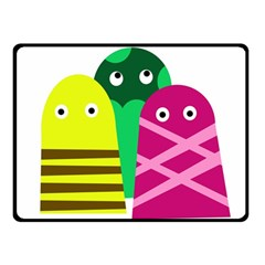 Three Mosters Fleece Blanket (small) by Valentinaart