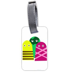 Three Mosters Luggage Tags (two Sides)