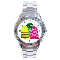 Three Mosters Stainless Steel Analogue Watch by Valentinaart