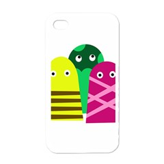 Three Mosters Apple Iphone 4 Case (white) by Valentinaart