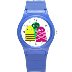 Three Mosters Round Plastic Sport Watch (s) by Valentinaart