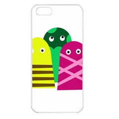Three Mosters Apple Iphone 5 Seamless Case (white) by Valentinaart