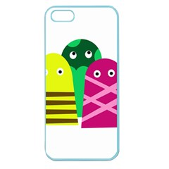Three Mosters Apple Seamless Iphone 5 Case (color) by Valentinaart