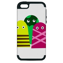 Three Mosters Apple Iphone 5 Hardshell Case (pc+silicone) by Valentinaart