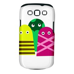 Three Mosters Samsung Galaxy S Iii Classic Hardshell Case (pc+silicone) by Valentinaart