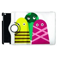 Three Mosters Apple Ipad 2 Flip 360 Case by Valentinaart