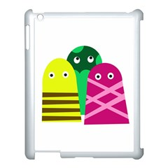 Three Mosters Apple Ipad 3/4 Case (white) by Valentinaart