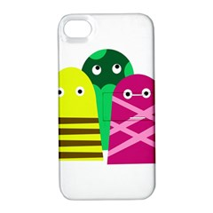 Three Mosters Apple Iphone 4/4s Hardshell Case With Stand by Valentinaart