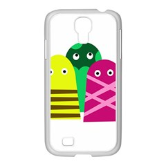 Three Mosters Samsung Galaxy S4 I9500/ I9505 Case (white) by Valentinaart